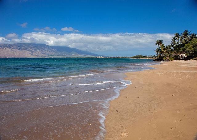 Beach across the street from Kihei Bay Vista