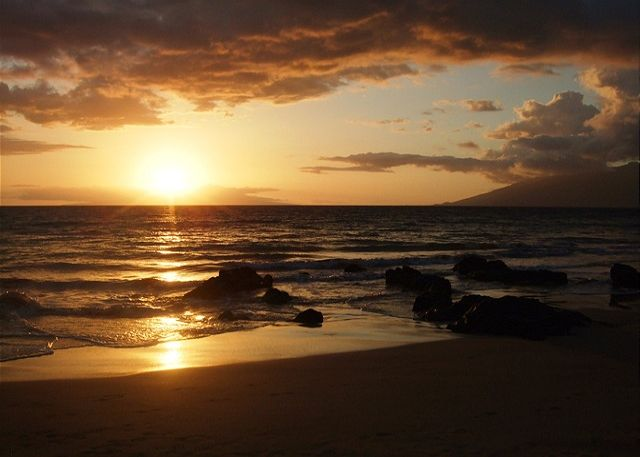Sunset on a Beach, a 10-minute walk from the Palms at Wailea