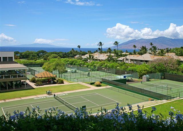 Wailea Tennis Court Just Across The Street From Wailea Ekolu