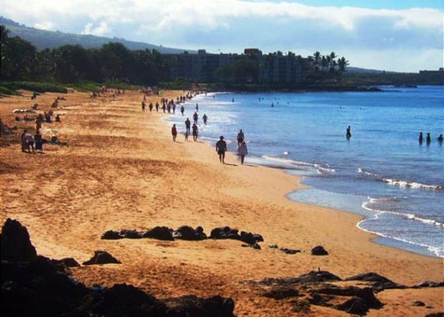 Kamaole Beaches, 1,2 &3 are all in walking distance