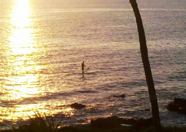 Paddleboarding in front of Hale Ili Ili