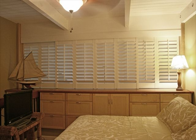 Mater Bedroom With Plantations Shutters Closed