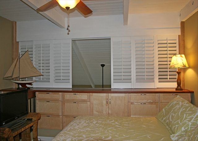 Mater Bedroom With Plantations Shutters Open