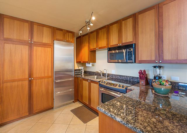 Waiohuli Beach Hale A201 Fully Equipped Kitchen