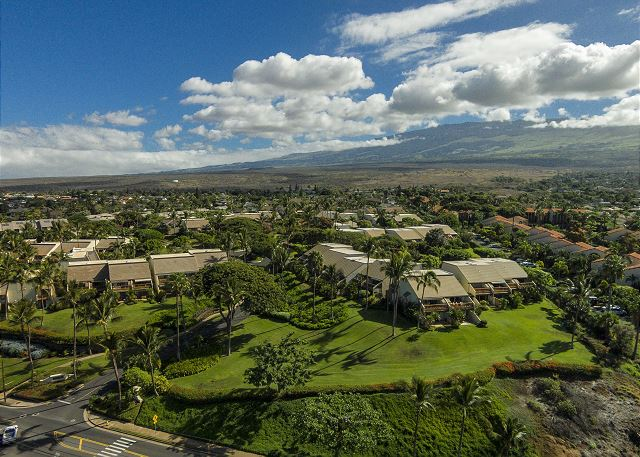 An aerial view of Maui Kamaole
