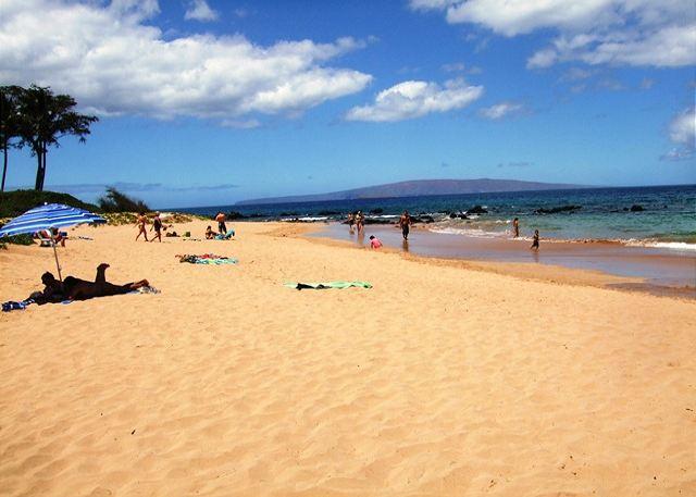 Beautiful Keawakapu Beach; a short stroll from the Palms at Wail