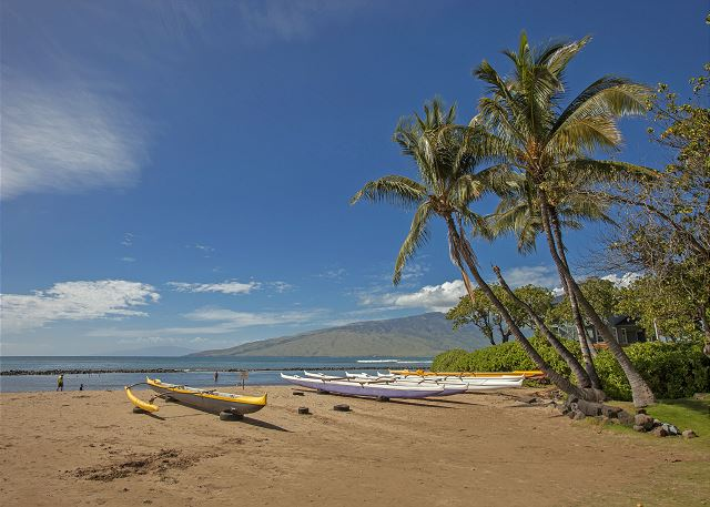 Kihei Bay Surf is across the street from Kalepolepo Beach