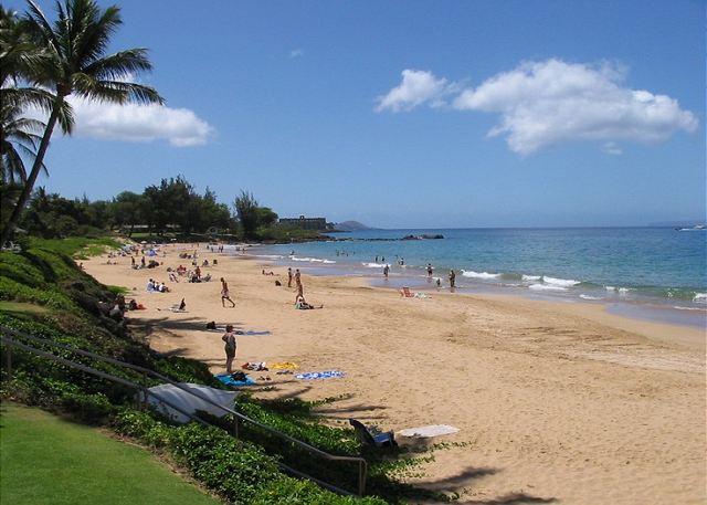 Kamaole Beach Park II is across the street from Kihei Kai Nani