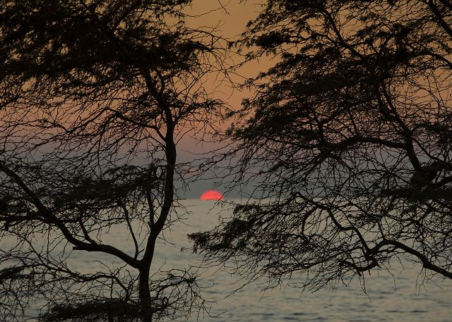 Beautiful sunsets are possible at Kamaole Beach Park III