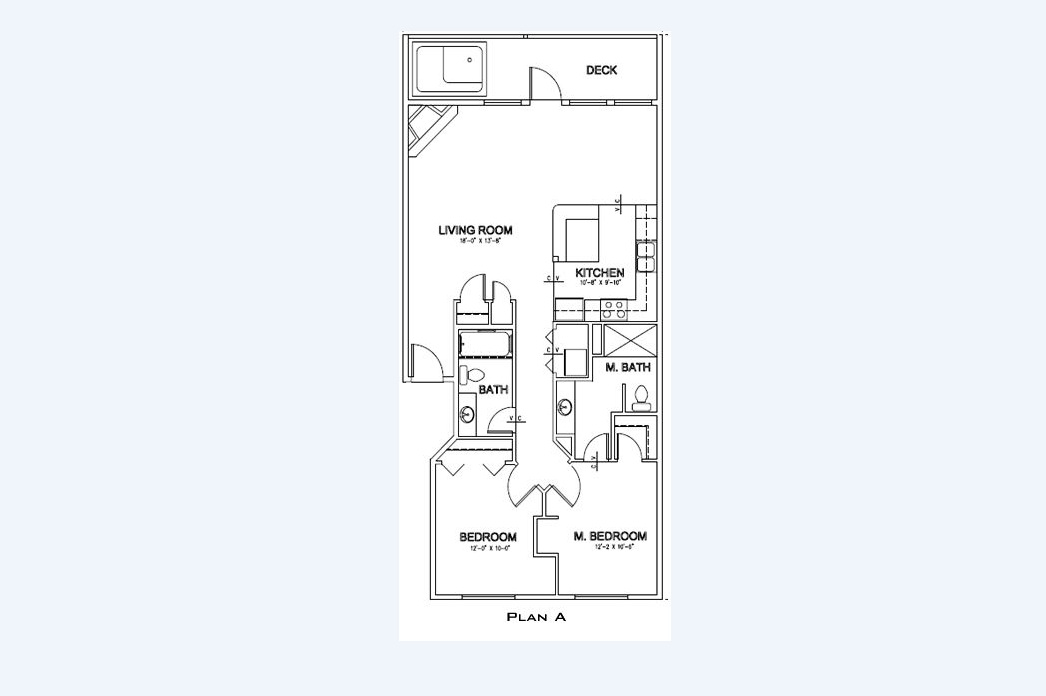 Floor Plan of the Sand Dollar Condo at Pacific Winds
