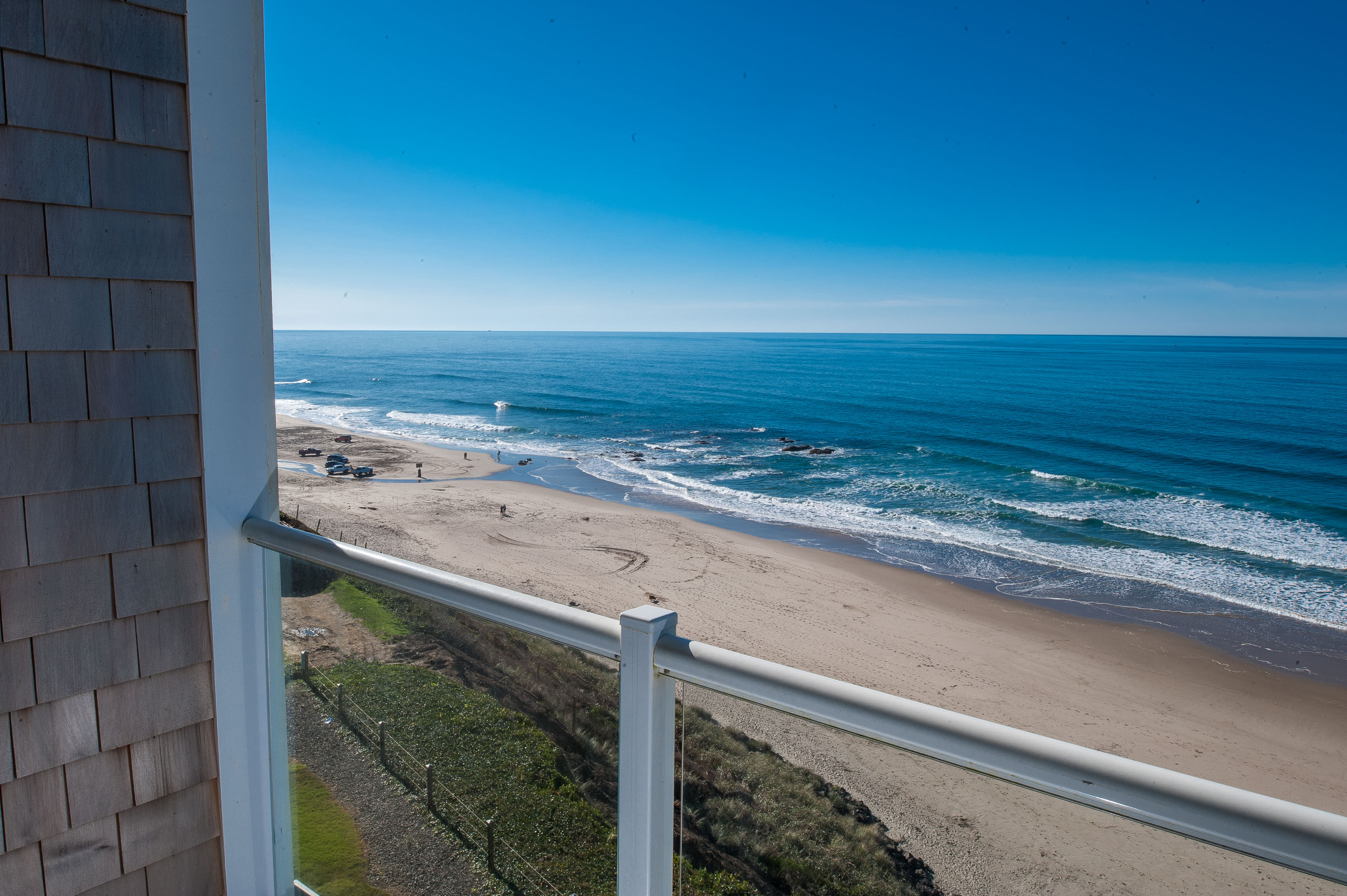 Balcony View Of Lincoln City S Beach