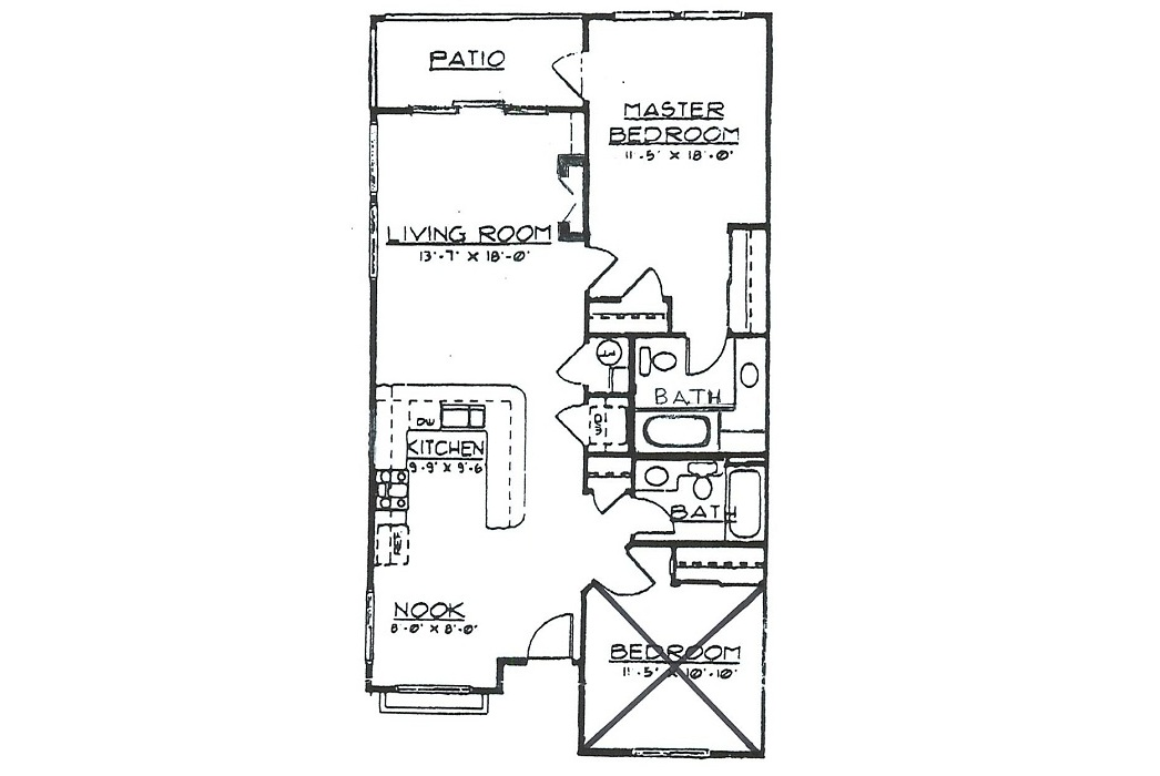 Sea For Two - Floor Plan - Second Bedroom Locked For Private Use
