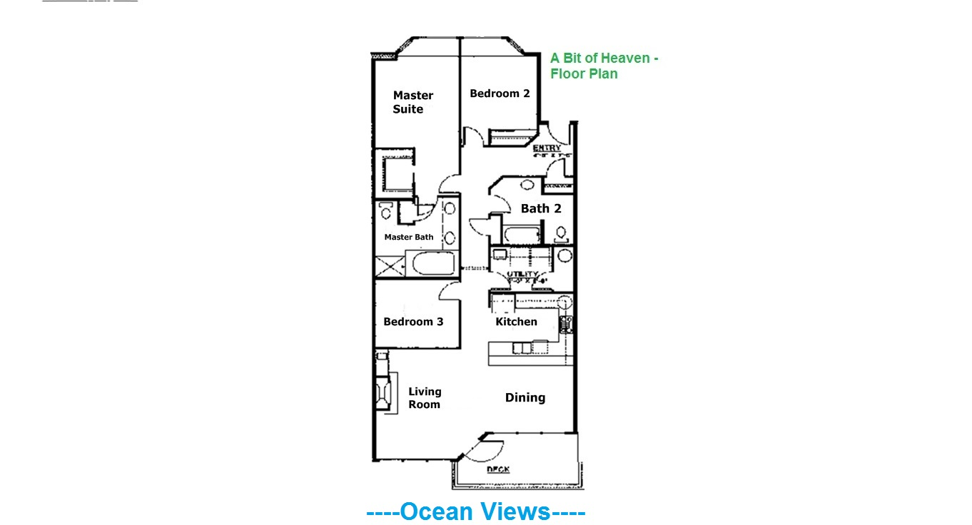 A Bit of Heaven - Floor Plan
