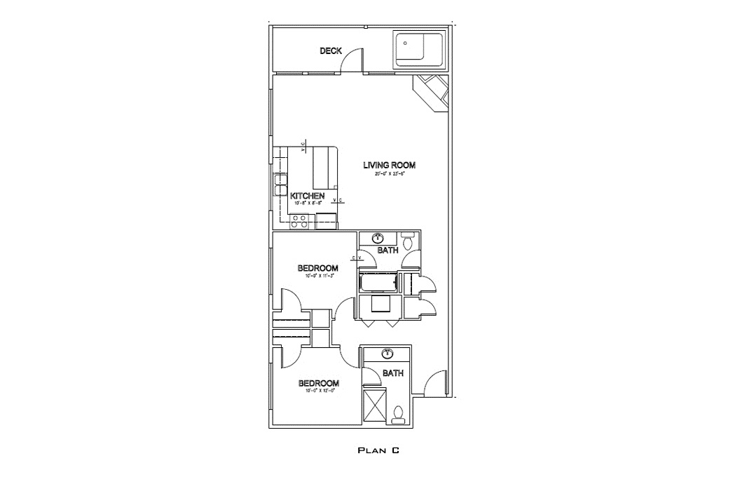 Floor Plan - Starfish Escape - Corner Unit