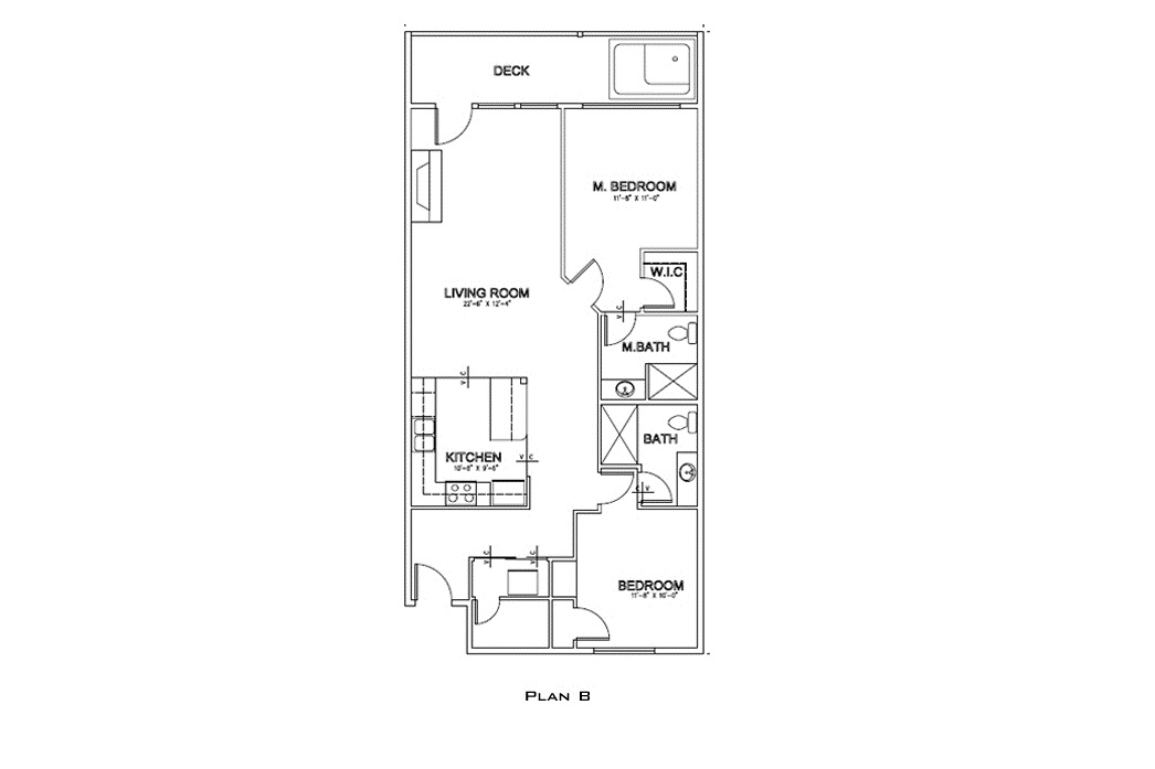 Floor Plan - Oceanfront Master Bedroom