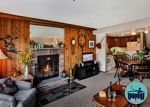 <center>Wood burning fireplace to keep you nice and warm<center>