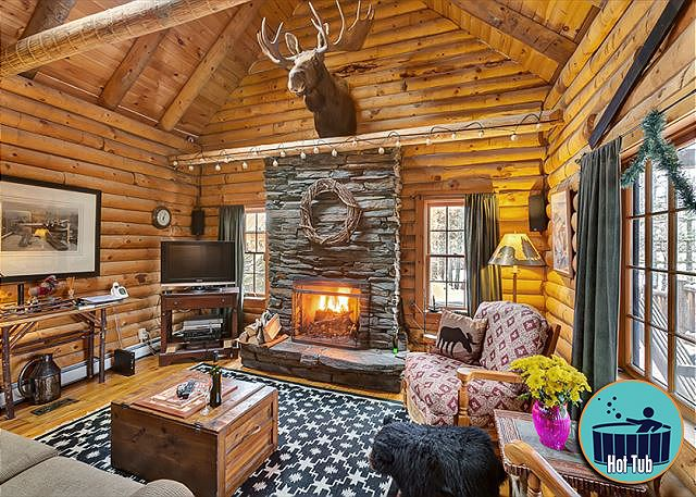 <center>Throw some logs on the fire, turn on the TV, and relax like you've never known<center>