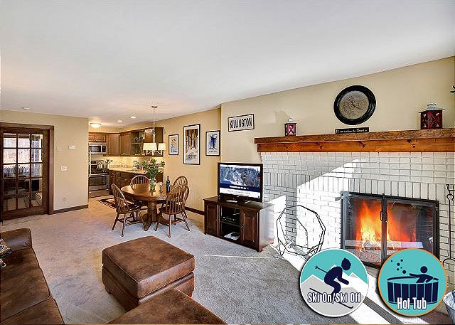 <center>Wood burning fireplace will keep you warm even on the coldest days<center>