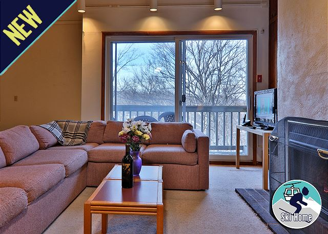 Warm up in front of the gas fireplace, or step outside onto your own private balcony for the perfect getaway