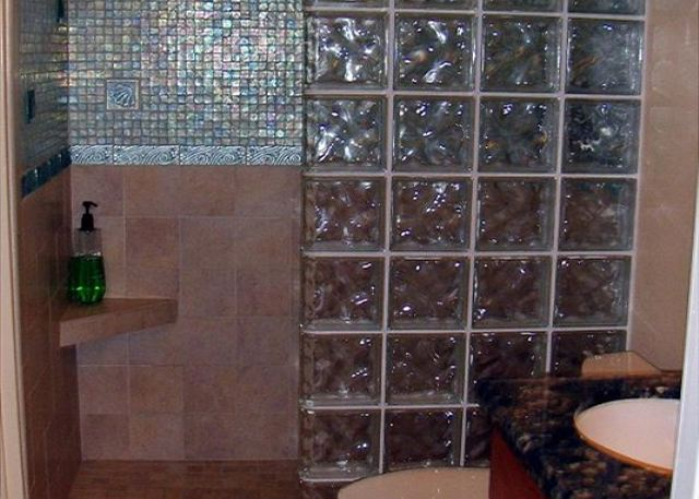 Glass, Granite and Tile Bathroom