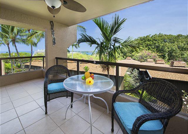 Lanai is extremely spacious with gorgeous ocean views!