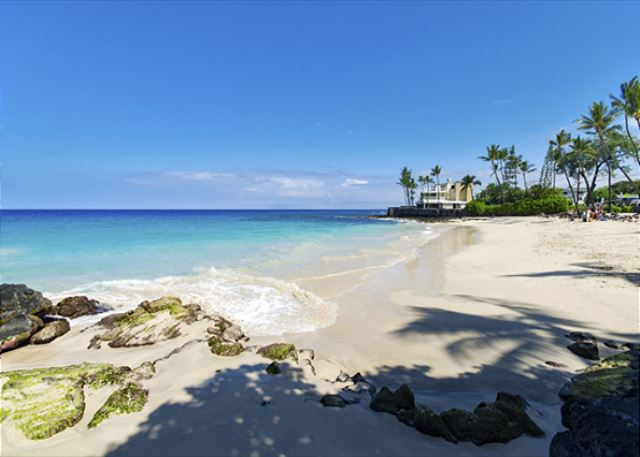 Kona Magic Sands sits right on top of Magic Sands Beach!!