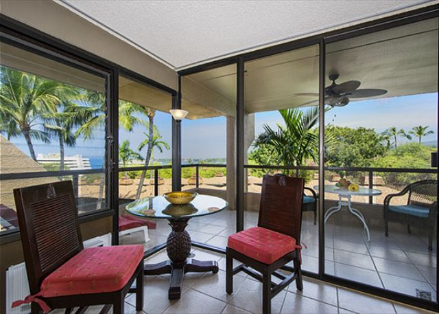 Dining area with an ocean view!