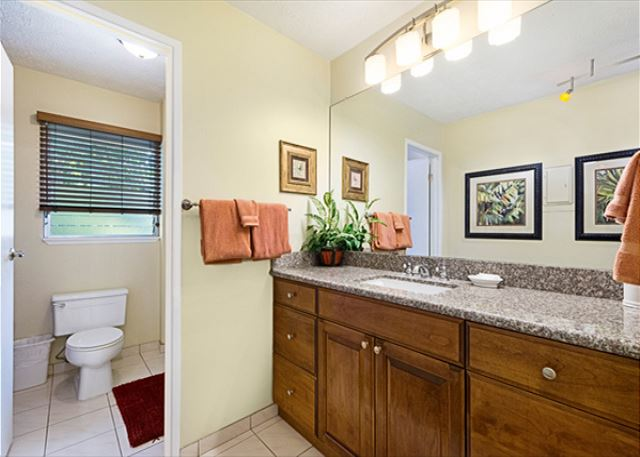 Master bathroom upstairs! On the right side of that toilet pictured is a tub/shower!