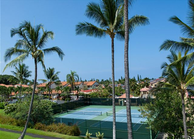 Tennis court views from condo as well!