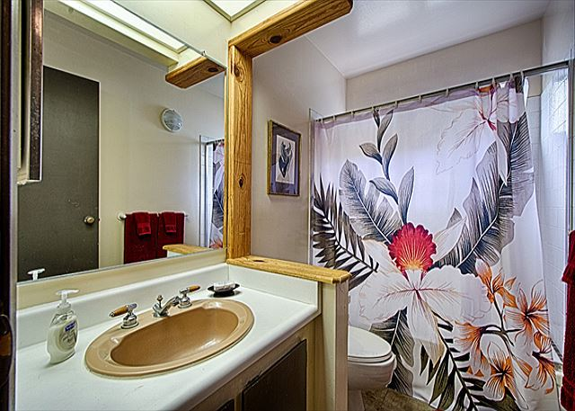 2nd bathroom has tub/shower combo