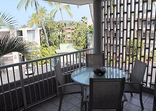 Spacious Lanai gives you an ocean view
