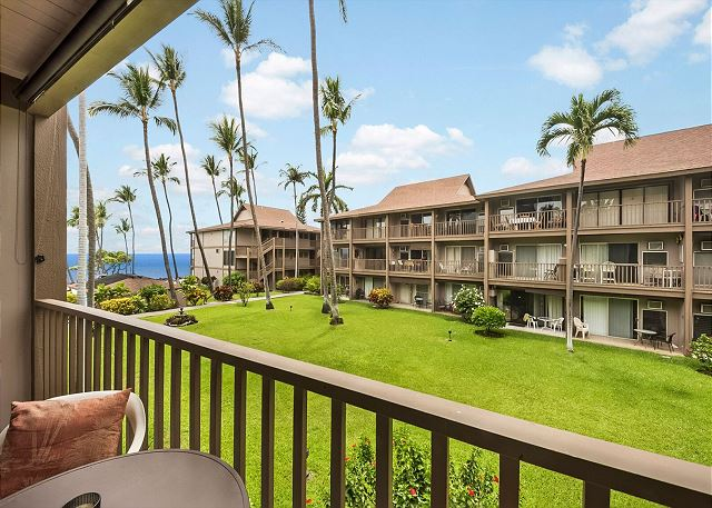 Ocean Views from Unit#C24 at Kona Isle on the 2nd floor!!
