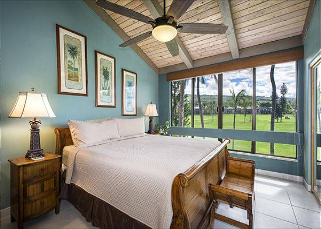 One of the Master Suites on the Main Level. Nothing but Golf Course Views!! Television in this bedroom as well!