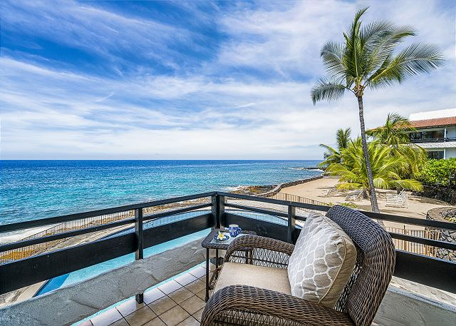 Welcome to Direct Oceanfront Living at the gorgeous newly remodeled Casa#219, spectacular wrap around Lanai, Corner unit!!