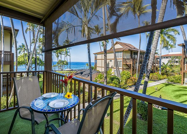 Kona Isle C28. Corner Unit, 2nd Floor, Ocean Views, & Air Conditioning!