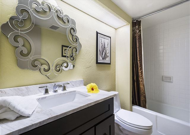 1st bathroom, off of the Living Room! 3 bathrooms is quite rare to have in a 2 bedroom condominium. Quite the amenity!
