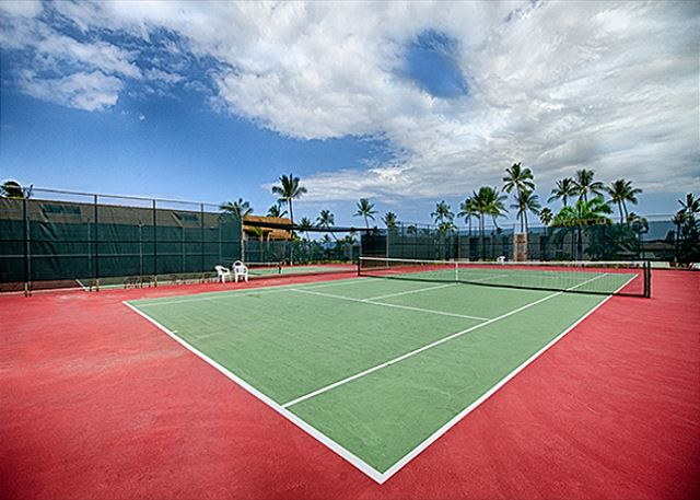Tennis courts are available for all guests here at the Kona Makai!