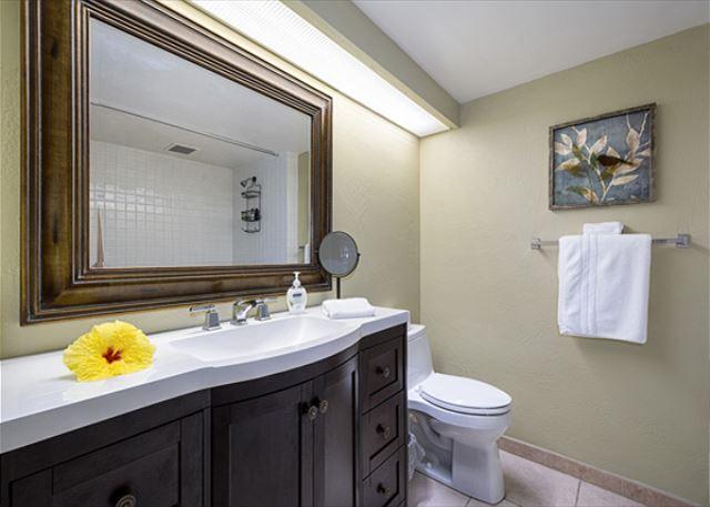 Master bathroom!  Brand new Vanities in all of the bathrooms in 2017!