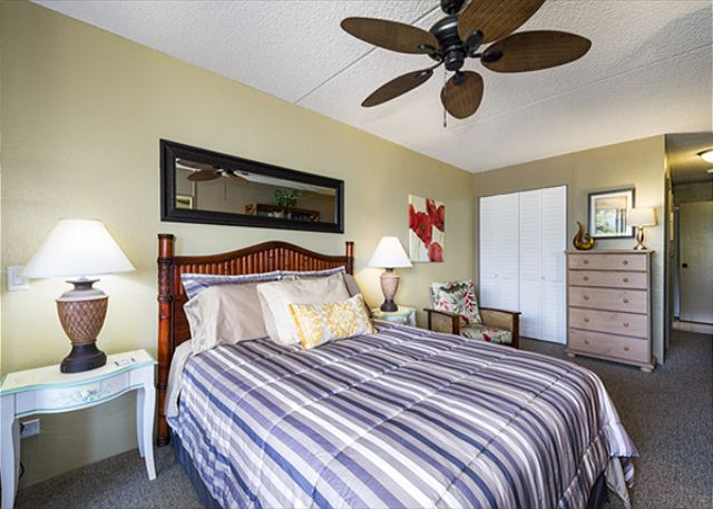 Lots of Room in the Master bedroom. Each bedroom has it's own TV as well!