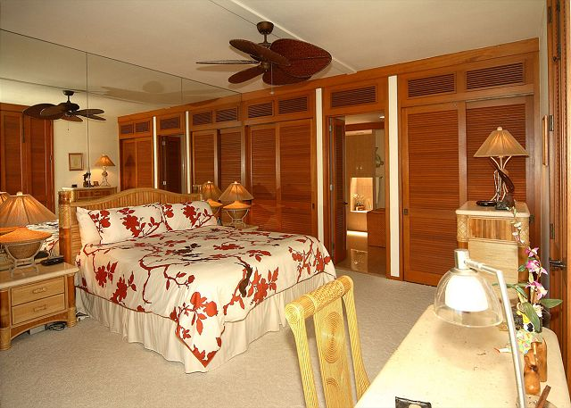 Master Bedroom with private lanai and master bath