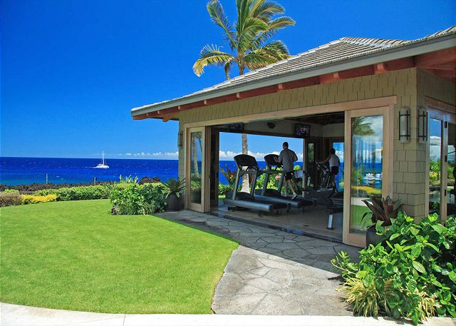 Private Fitness Center with sweeping ocean views