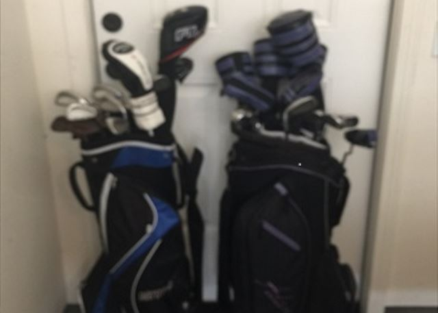 Men and Womens Golf Clubs for Guest Use