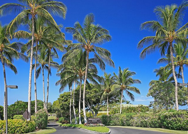 Enter into to the lush tropical green Mauna Lani Point