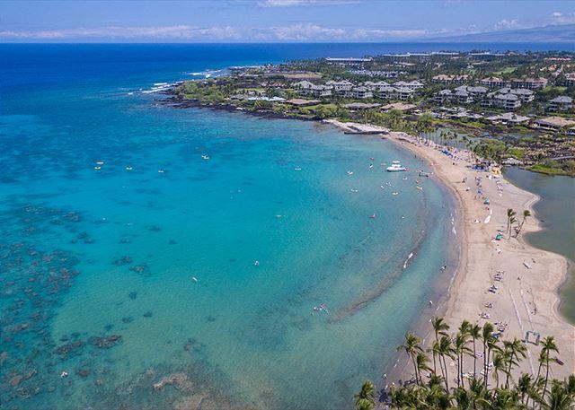 """A"" Bay, white sand beach located in Waikoloa Resort"