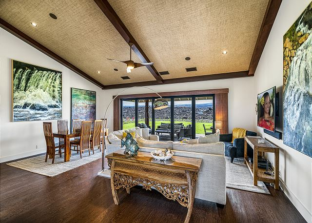 Relax and look out to views of Mauna Kea......