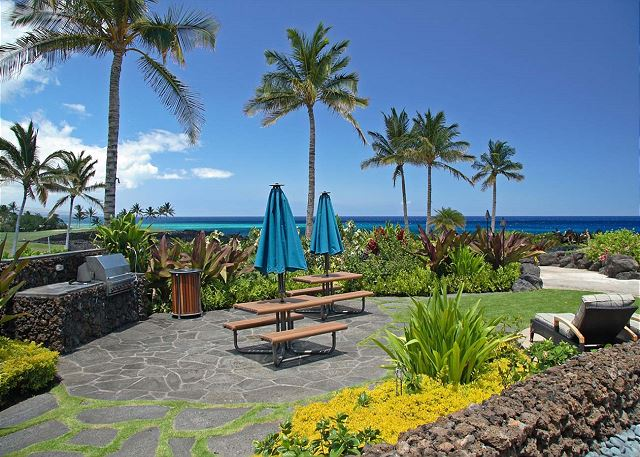 Enjoy the use of BBQ's and picnic area right next to the Pacific Ocean