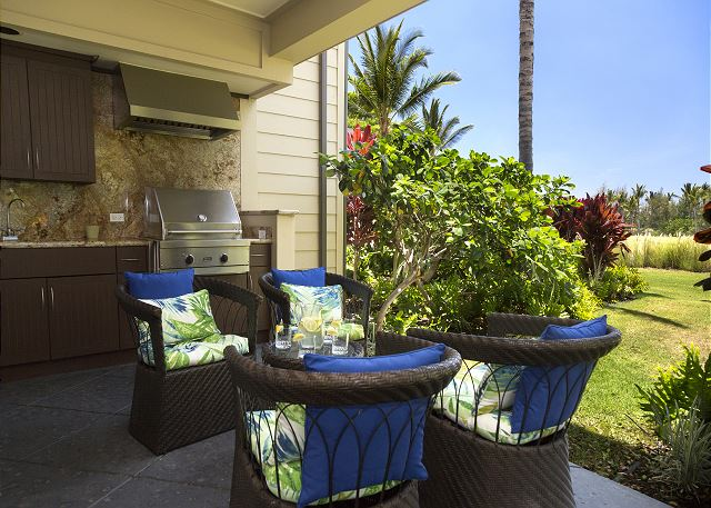 BBQ, relax and dine on your private lanai.