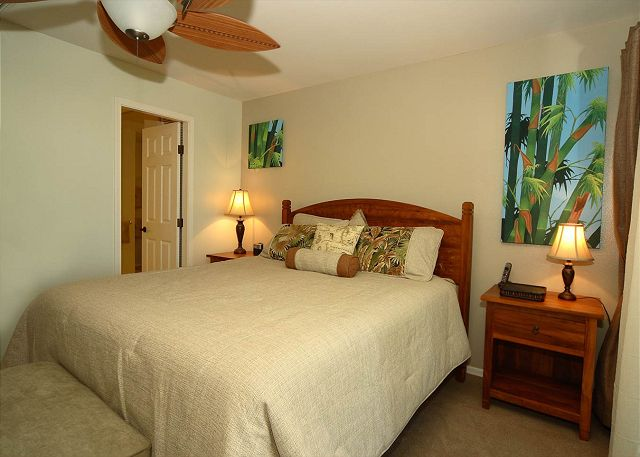 Master Bedroom Suite with private lanai and Master Bathroom