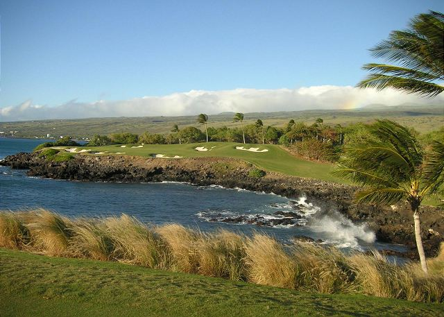 Famous par 3 hole on the Mauna Kea Golf Course----spectacular!!