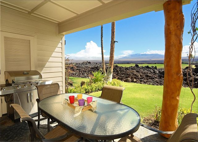 Lanai with private BBQ